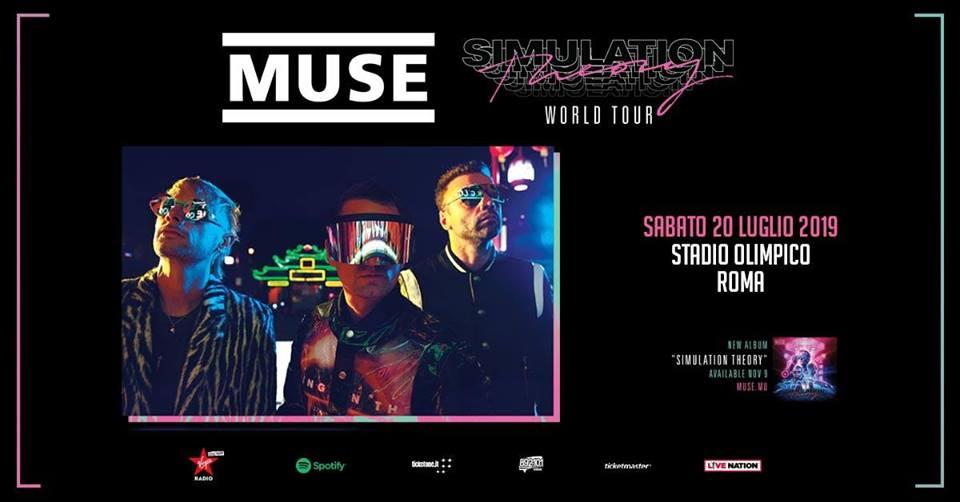 Muse in Concerto di Sabato 20 Luglio 2019 alStadio Olimpico